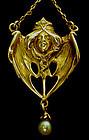 French Art Nouveau 18K Necklace Henri Solie C.1900