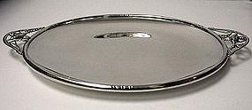 Sterling Silver Blossom Tray, probably Denmark C.1930