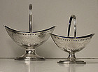 Hester Bateman pair of Georgian Silver Baskets 1788