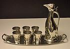 Kayserzinn Levin Art Nouveau  Penguin Decanter Set