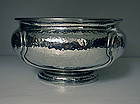 Liberty Knox hammered Pewter Bowl, English C.1910