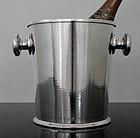 Art Deco Modernist Silver Plate hammered Wine Cooler