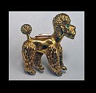 Cartier Gold Poodle Brooch France C.1950