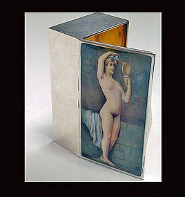 Fine Erotic Enamel Snuff Box, probably Austria C.1910