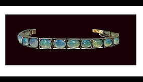 Antique Opal and 14K Bracelet, C.1920.
