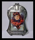 WMF Art Nouveau Jugendstil pewter photograph frame, WMF