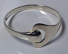 Georg Jensen Hans Hansen sterling bangle Denmark, 20th century