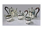 Rare Indian Sterling Silver Tea & Coffee Set Hamilton & Co Calcutta