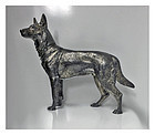 WMF Silver plate Alsatian German shepherd Dog, Germany C.1900