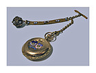 Very fine Gold, Enamel Diamond, Ladies Hunter Pocket Watch Elgin C1888