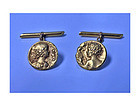 Pair of 22K French art Nouveau Cufflinks, Vernier C.1890