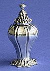 Conch shell design silver Pepper Casters London 1834