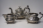 Irish Georgian Silver Tea Set Dublin 1820, W. Nowlan