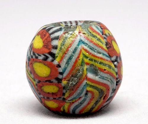 A Morfia Glass Bead in excellent condition, from Fustat/ Cairo (700-