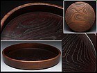Keyaki wood tea tray