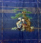 Antique embroidered silk fukusa