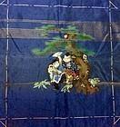 Antique embroidered silk fukusa