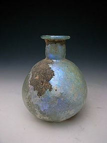 Roman Glass, Syrian Bottle, 3rd ~ 5th century AD