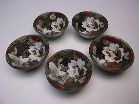 Antique Meiji Period Kutani Sake Cup Set