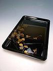 Antique Japanese Edo Period Maki-e Akikusa Lacquer Tray