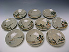 Meiji Period Set of Plates