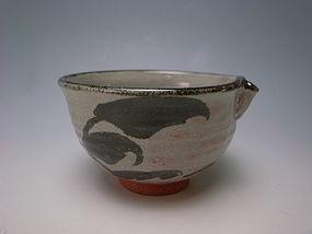 Tetsu-e Katakuchi Chawan by Fujii Kenji