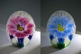 Beautiful Pair of Pendants by Argy-Rousseau