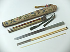 Qing Dynasty Knife and Chopsticks Set
