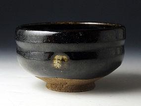 Edo Period Black Raku Chawan