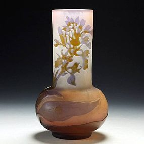 Art Nouveau Cameo Glass Vase by Emile Gallé (hyacinth)
