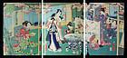 Edo Period Woodblock Print by Toyohara Kunichika
