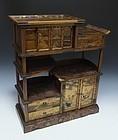 19th Century Japanese Maki-e Lacquer Cabinet