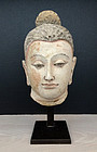 Remarkable Head of Buddha, Gandhara, 4-5th century
