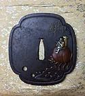 Edo Period Tsuba by Sekijoken Motozane