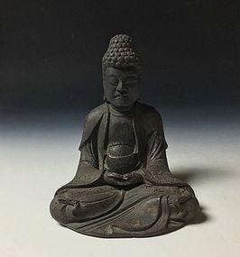 Japanese 15th Century Wooden Sculpture of Buddha