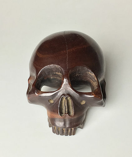 Meiji Period Skull shaped Mokugyo