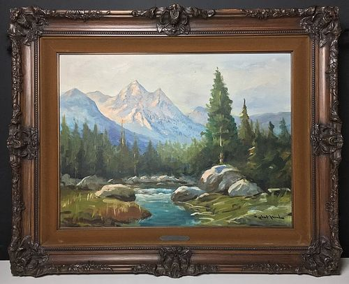 "Painting by Robert Wood: ""Grand Teton"""