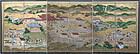 Remarkable Edo Period Six-fold Screen - Itsukushima Shrine