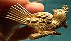 Quality 14K BIRD PIN with RUBY EYE c1950s