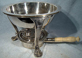 GORHAM SP OPEN CHAFING DISH on STAND c1900