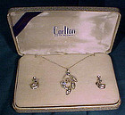 CARLTON STERLING FILIGREE RS NECKLACE & EARRINGS BOX