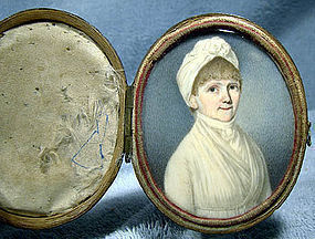 American FEDERAL Period PORTRAIT MINIATURE c1800