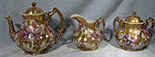 Stunning NIPPON 3 Pc HAND PAINTED TEA SET TRIO c1880s