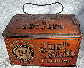 BUCHANAN JUST SUITS LUNCHBOX TOBACCO TIN