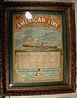 Rare AMERICAN LINE SHIPPING DEPARTURE CALENDAR 1887