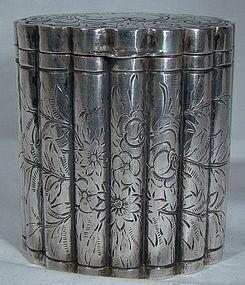 800 SILVER ENGRAVED BOX c1930-35 A. Ronchi Milan