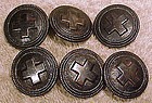 Set of 6 WORLD WAR I NURSE'S UNIFORM BUTTONS