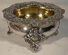 GEORGIAN STERLING LARGE FOOTED MASTER SALT DISH 1817