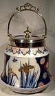 FUKAGAWA NISHIKIDE BISCUIT BARREL w/ SP MOUNTS Meiji