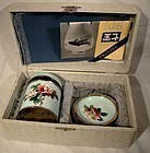 Vintage ANDO BOXED CLOISONNE SMOKING SET c1960s-70